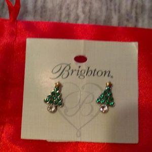 NWT Brighton Silent Night Christmas tree earrings